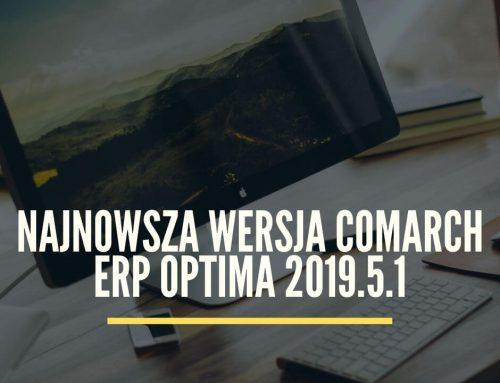 Najnowsza wersja Comarch Optima 2019.5.1