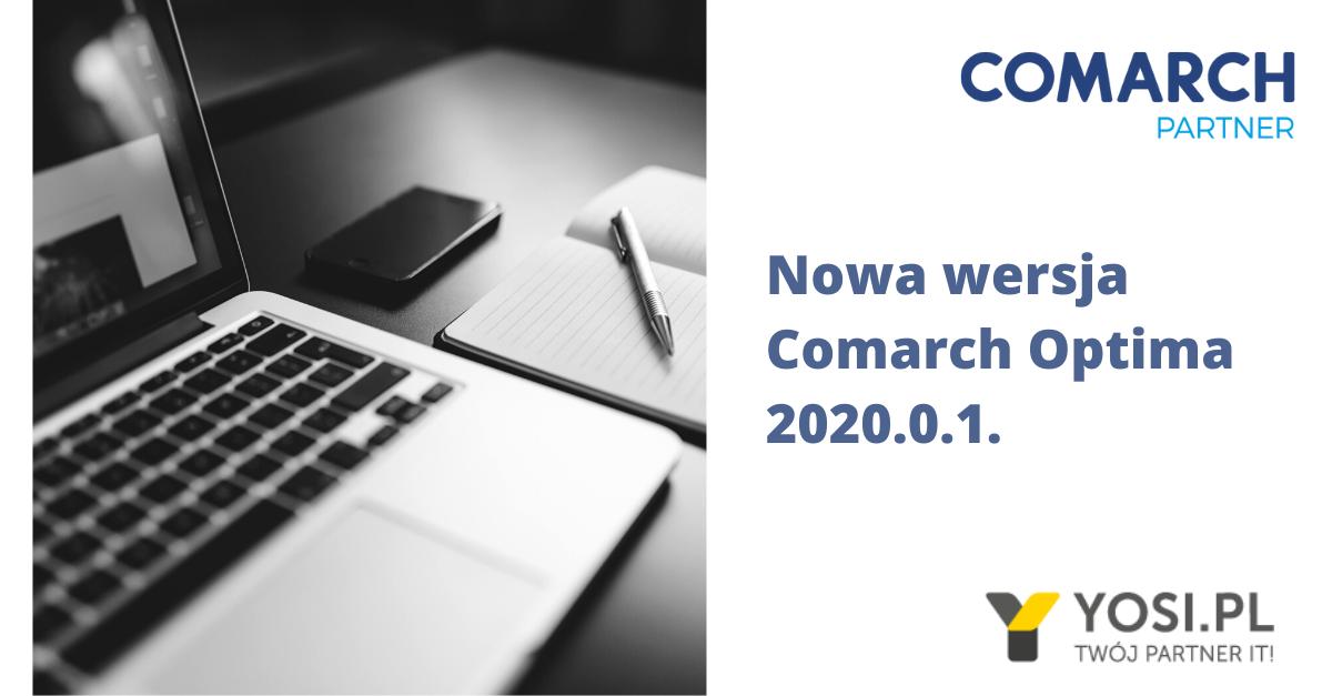 Nowa wersja Comarch Optima 2020.0.1.