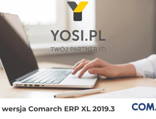 Nowa wersja Comarch XL 2019.3